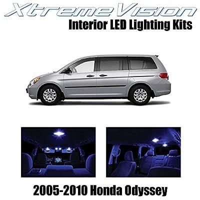 XtremeVision Interior LED for Honda Odyssey 2005-2010 (11 Pieces) Blue Interior LED Kit + Installation Tool: Automotive