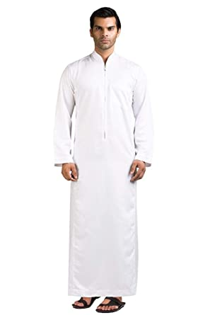 f5d6af809a8e Amazon.com: Kamani Ehsaan Mens Thobe/Kaftan Kamani-Islamic Clothing Jubba  for Men-Muslim Thobes: Clothing