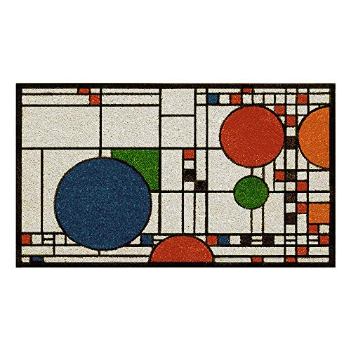 Uni-Art Frank Lloyd Wright Colored Coonley Playhouse Doormat