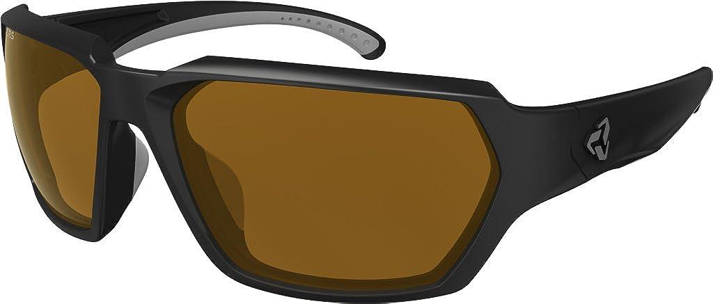 Ryders Eyewear Face Sunglasses – Men s Black Matte Brown Lens Anti Fog, One Size