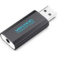 Docooler VENÇÃO USB Placa de Som Externa com 3.5mm Stereo Fone De Ouvido Mic Adaptador de Driver-free para PC Laptop PS4 Preto