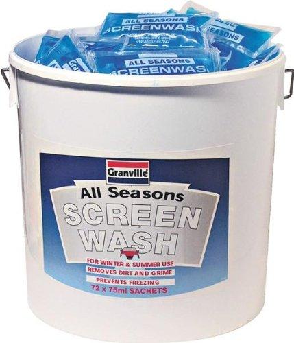 Granville limpiaparabrisas cubo 72 x 75 ml sobres para mantenimiento del coche protector de lavado todas las estaciones Granville Scre: Amazon.es: Coche y ...