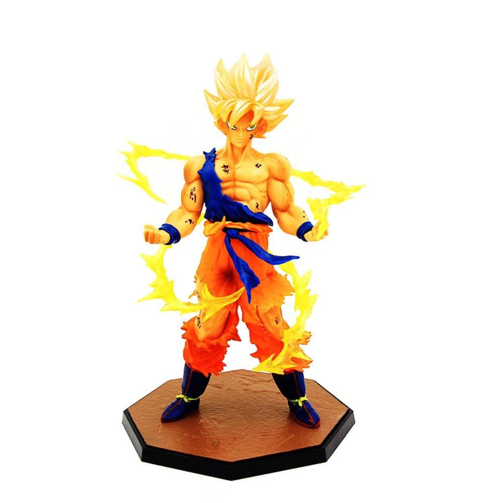 LLDDP Dragon Ball Dragon Ball Z Super Saiyan Goku Super Warrior Awakening S.H. Figuarts Action Figure Action and Toy Characters Cartoon Character Statue