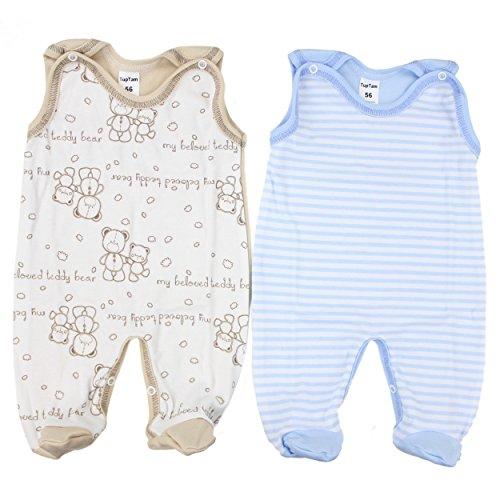 2er Set Strampler Baby Strampelanzug Jungen 100% Baumwolle Babystrampler Mädchen / Made in EU, Farbe: Farbenmix 4, Größe: 68