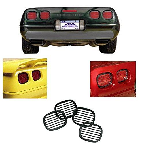 (C4 Corvette Tail Light Louver Cover Kit Fits: 91 Through 96 Corvettes)