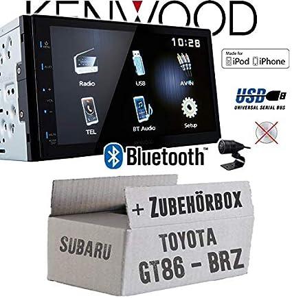 TOYOTA GT86/AB 17/2/DIN auto Radio Incasso Set in originale Plug /& Play qualit/à con radio antenna Adapter cavo di collegamento accessori e mascherina per autoradio//Telaio di montaggio nero