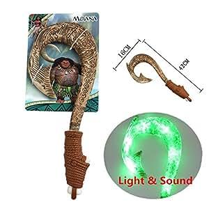 Gg maui light up fish hook moana toys for boys for Disney s moana maui s magical fish hook