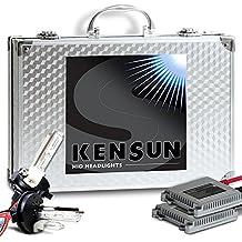 Kensun HID Conversion Kit Slim Ballasts H4 (9003) Lo-Beam Xenon/Hi-Beam Halogen 6000k Diamond White - ALL SIZES AND COLORS by Kensun