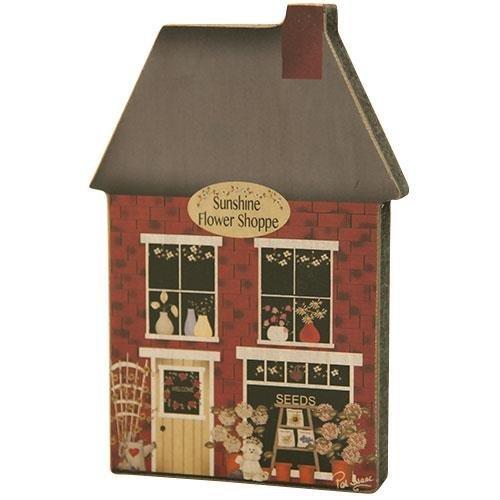 Heart of America Flower Shop Wood House Wall Decor