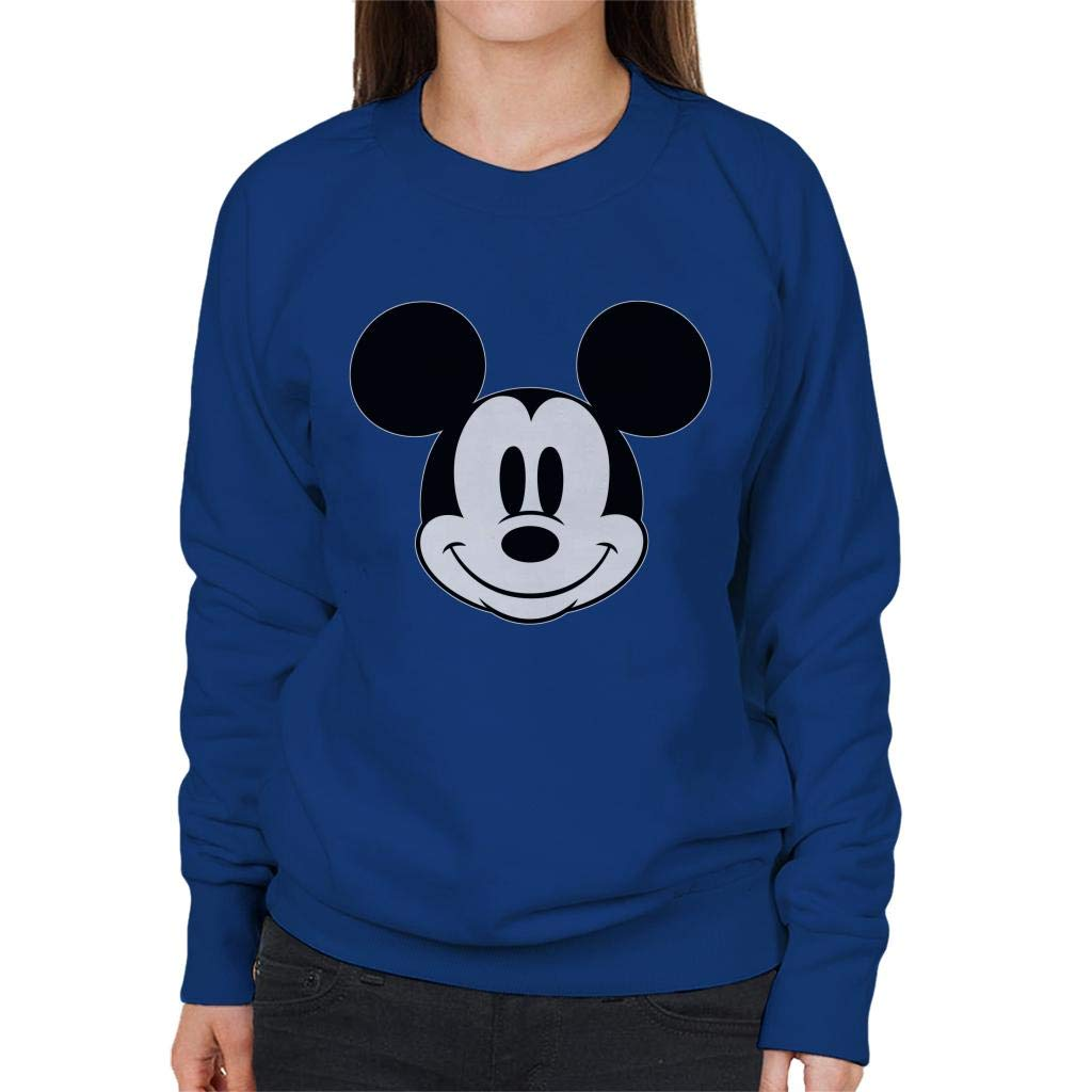 Disney Mickey Mouse Cute Smile Black And White Womens Sweatshirt