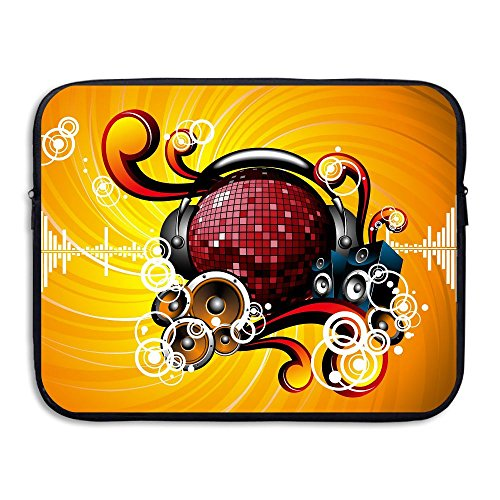Fonsisi Laptop Storage Bag Music Note Portable Waterproof Laptop Case Briefcase Sleeve Bags Cover