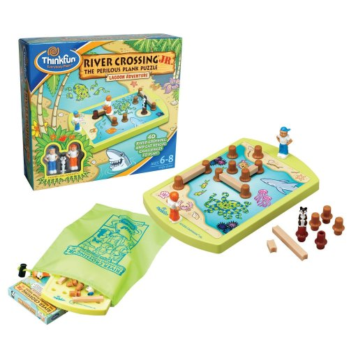 River Crossing Puzzle Game - Think Fun River Crossing Jr.