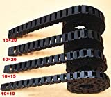 Ochoos Cable Chain Semi-Enclosed Interior Opening 15x20 15x10 1 Meter Drag Chai Plastic Towline Transmission Machine Accessories - (Inner Size: 15x20 mm)