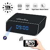 Wifi Hidden Camera HD 1080P Spy Camera Clock Wireless Motion Detection/Loop Recording Home Surveillance Mini Cameras