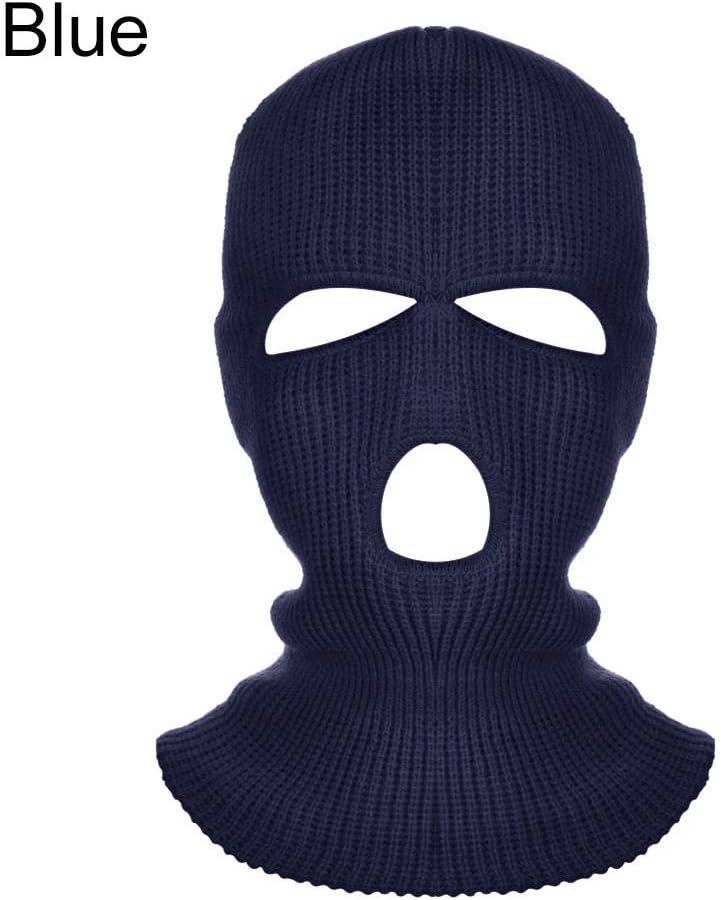SHUHANX Windproof Face Mask Army Tactical Mask 3 Hole Full Face Mask Ski Mask Winter Cap Balaclava Hood Motorbike Motorcycle Helmet Full Face Helmet