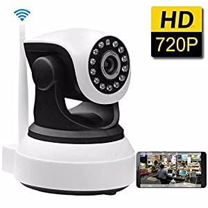 SDETER IP Camera Wireless Wifi 720P HD - Plug/Play,Pan/Tilt,Night Vision,Home Surveillance Security Alarm System (US Edition) by Shenzhen Anba Technology CO.,LTD