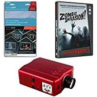 Virtual Reality Halloween Projector Kit with Zombie Invasion AtmosFEARFx DVD and Screen