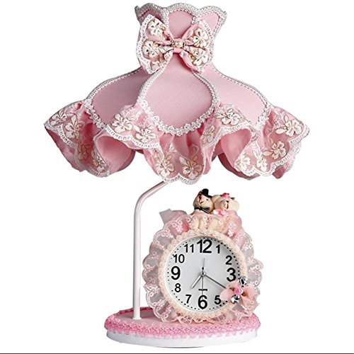 DMMSS Cute Creative Warm Princess Children Room Girl Pink Lace Table Table Lamp Bedroom Bedside Lamp by DMMSS Pyjamas