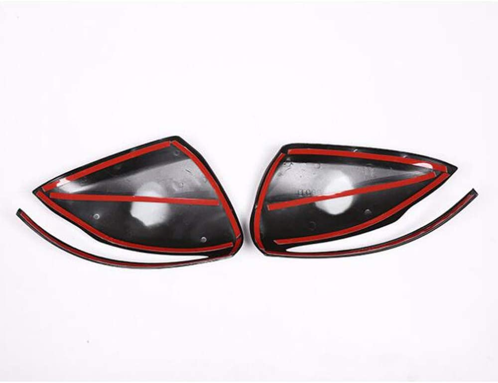 2pcs Black Rear view Mirror Cover Trim For Mercedes Benz W205 GLC C S E Class