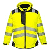 Portwest PW3 Hi-Vis Winter Jacket Work Safety Protective Reflective Waterproof Coat ANSI 3, 6XL