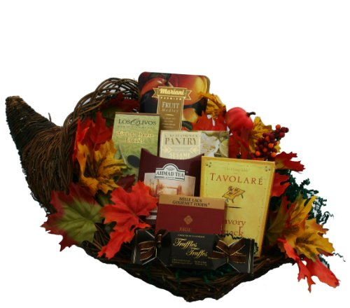 Cornucopia of Snacks and Gourmet Food Thanksgiving Gift Basket