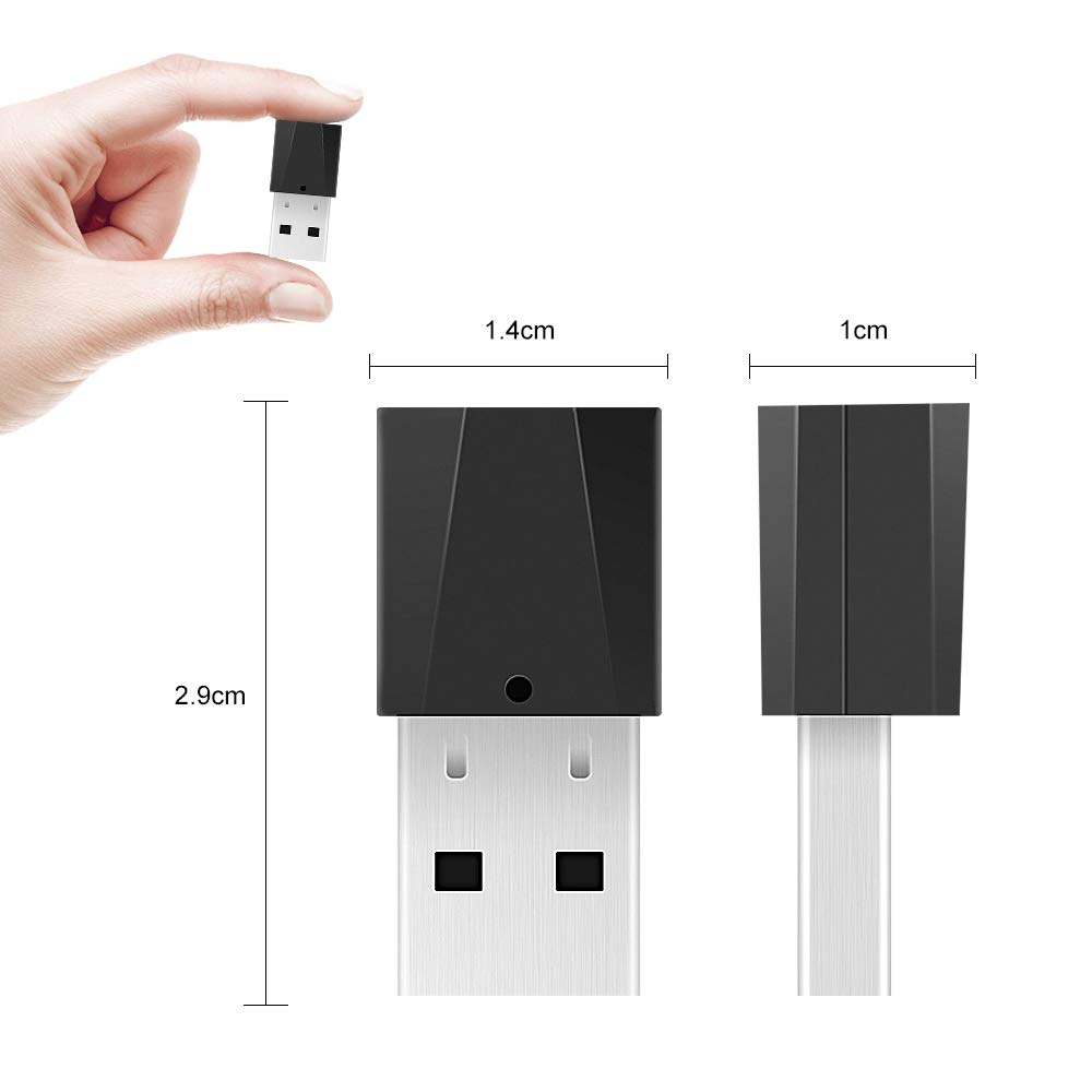 emparejado con TV Auriculares y m/ás Bluetooth Dongle Chasehill Transmisor Bluetooth Protable Inal/ámbrico Est/éreo M/úsica para Dispositivos de Audio de 3,5 mm Ordenador