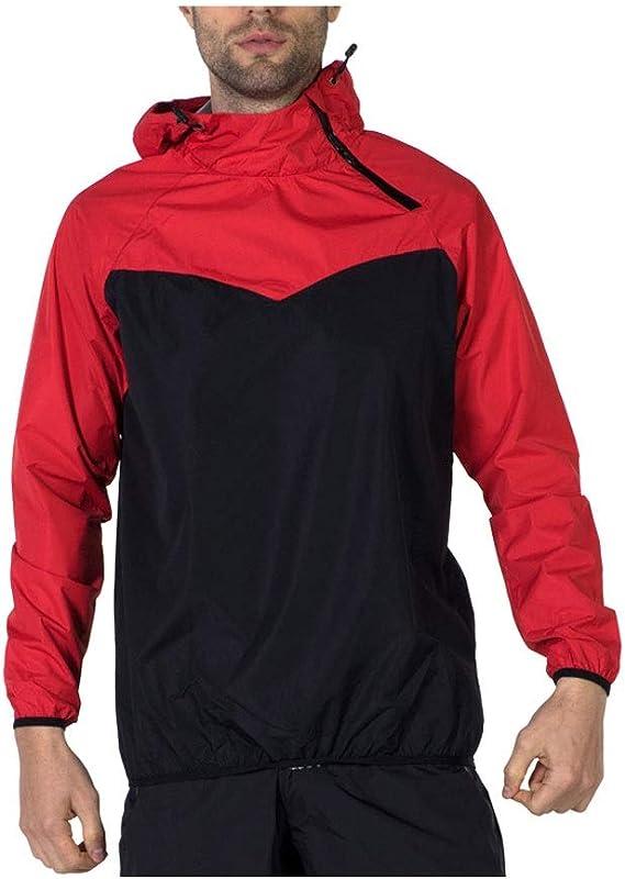 Rojo Impermeable Impermeable Impermeable Sudadera para hombre ...