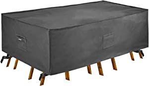 Patio Watcher 144 inches Rectangle Grey Color Outdoor Furniture Set Covers Waterproof Durable Water Resistant Cover for Lawn, Porch, Yard, Garden