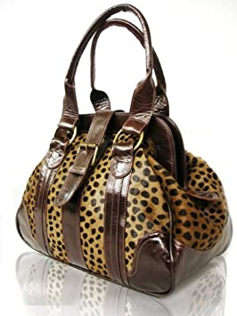 2a251be06cdd Image Unavailable. Image not available for. Colour  Womens Animal Leopard  Print Leather Handbag