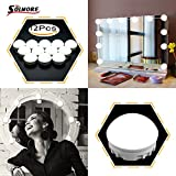 12 lightbulb - SOLMORE Mirror Lights LED Vanity Mirror Lights Kit Hollywood Style Flexible 12 Dimmable LED Light Bulbs Lighting Fixture Strip for Makeup Table Set in Dressing Room with Dimmer and USB Power Supply