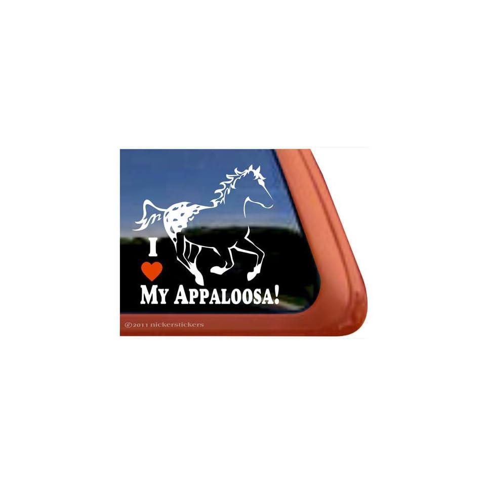I Love My Appaloosa Horse Trailer Vinyl Window Decal Sticker