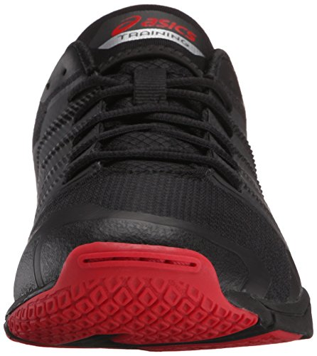 Zapato de entrenamiento Met Conviction para hombres, Negro / Plateado / Racing Red, 8.5 M US