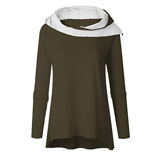 fab2977036acf Big Promotion!Toimoth Women Long Sleeve Hooded Sweater Sweatshirt Pullovers  Tops Blouse(Green,
