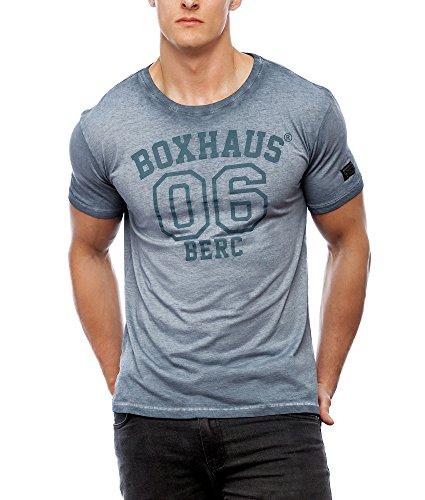 BOXHAUS Brand Jero T-Shirt rock grey