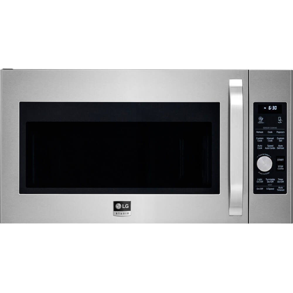 LG LSMC3086STStudio 1.7 Cu. Ft. Stainless Steel Over-the-Range Microwave by LG
