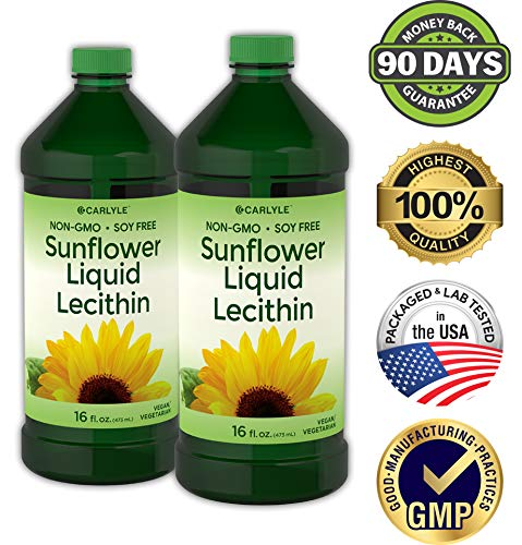 Carlyle Sunflower Liquid Lecithin 16 oz Oil 2pack | Soy Free, Vegetarian, Non-GMO, and Gluten Free | Food Grade by Carlyle (Image #2)