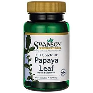Swanson Full Spectrum Papaya Leaf 400 mg 60 Caps