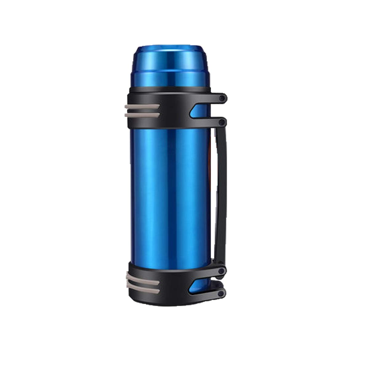 Thermos Cup, Large Capacity Insulation Pot for Men and Women, Thermos Bottle, Outdoor Portable Car Travel Bottle, 2L L 1000ml, Black, Silver, Blue, Red (Color : Blue-2000ML)