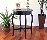Frenchi Home Furnishing Round End Table, Espresso For Sale