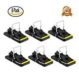 Best Mouse Trap - Mouse Traps Quick Kill That Work - Best for Small Mice, Mouse - Pack of 6 - Reusable Instantly - Quick Response - Premium ABS and Steel Material