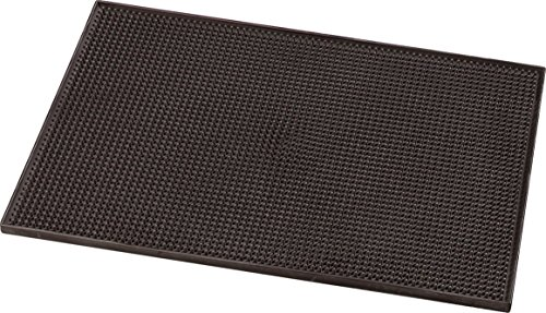 Carlisle 1060101 Thermoplastic Rubber Service Mat, 0.44'' x 12'' x 18'', Brown (Case of 6) by Carlisle