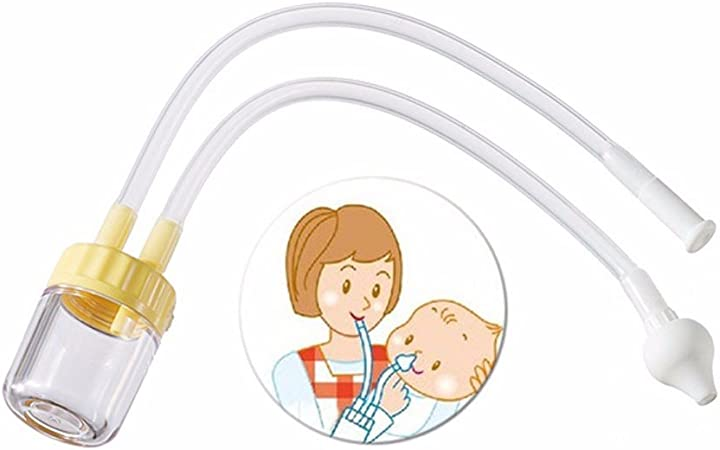 aohang bebé aspirador nasal – Mocos con ventosa para eliminar mucosidad suavemente con suave silicona punta – congestión relief-color al azar: Amazon.es: Hogar