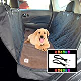 The Ultimate Dog Car Seat Cover Pet Hammock and Soft Washable Dark Brown Fleece Dog Bed - 2 Piece Set - 58