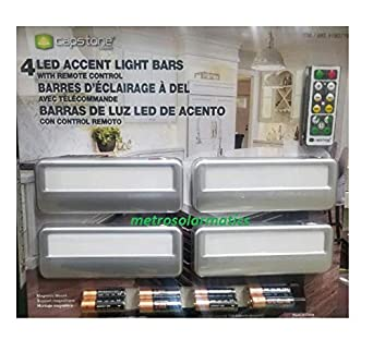 Capstone 4 Wireless Led Accent Light Bars With Remote Control by Capstone