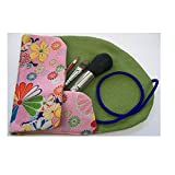 Ai (Love) * Japanese Natural Hair makeup brush 4 pcs set in KIMONO roll pouch