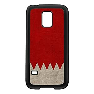 Canvas Flag of Bahrain - Bahrainian Flag Black Silicon Rubber Case for Galaxy S5 Mini by UltraFlags + FREE Crystal Clear Screen Protector