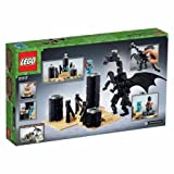 LEGO Minecraft The Ender Dragon Features a Sand Island,Dragon Egg, Light-Brick Ender Crystals And Obsidian Pillar Elements