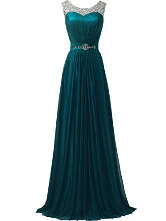 WAWALI Sequins Straps Formal Prom Dresses Evening Party Gowns 2 Azure Blue