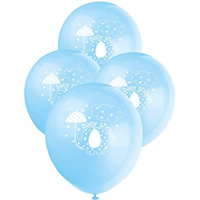 "12"" Latex Blue Elephant Boy Baby Shower Balloons, 8ct: Kitchen & Dining"