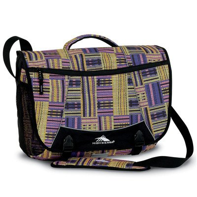 High Sierra Tank Messenger Bag, Basket Weave/Purple, -